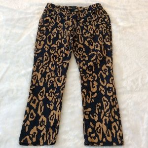 Chicos Crop Ankle Pants So Slimming Leopard 0 = 4